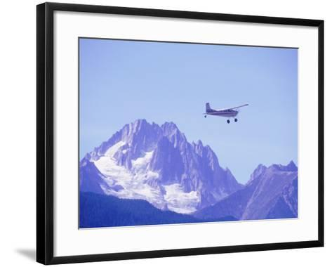 Aircraft in Flight Over Mountain, Haines, Alaska-Roger Holden-Framed Art Print