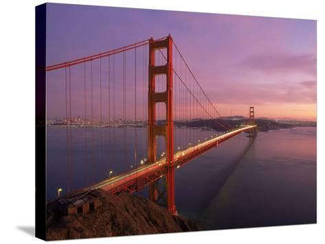 Golden Gate Bridge at Sunset, CA-Kyle Krause-Stretched Canvas Print