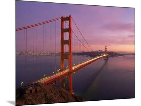 Golden Gate Bridge at Sunset, CA-Kyle Krause-Mounted Photographic Print