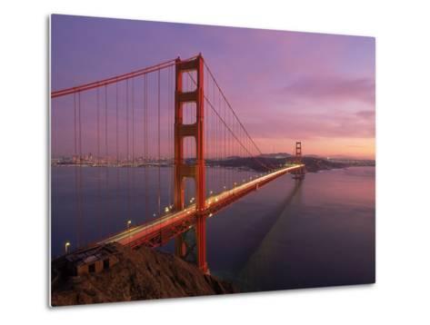 Golden Gate Bridge at Sunset, CA-Kyle Krause-Metal Print
