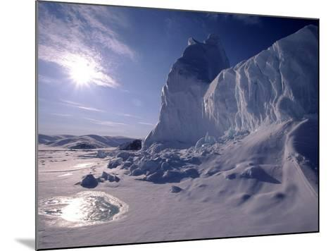 Iceberg and Meltwater Pool, Baffin Island, Nunavut, CA-Yvette Cardozo-Mounted Photographic Print