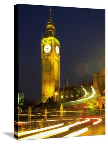 Big Ben at Night, London, UK-Bruce Clarke-Stretched Canvas Print
