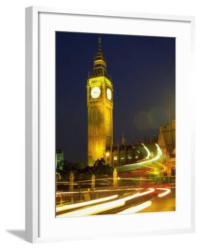 Big Ben at Night, London, UK-Bruce Clarke-Framed Art Print