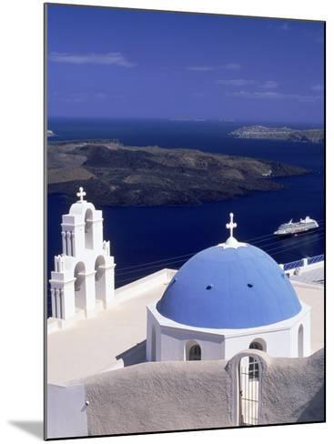 Kimisis Theotokov Church, Santorini, Greece-Walter Bibikow-Mounted Photographic Print