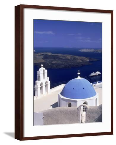 Kimisis Theotokov Church, Santorini, Greece-Walter Bibikow-Framed Art Print