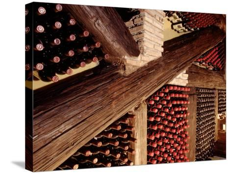 Wine Cellar-John James Wood-Stretched Canvas Print