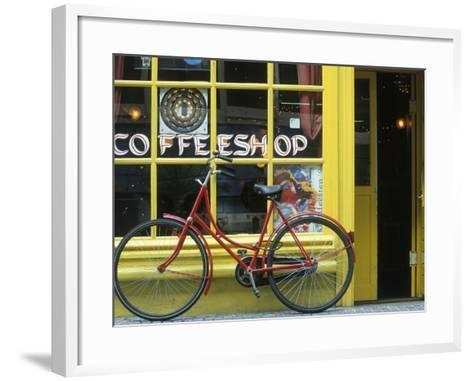 Coffee Shop, Amsterdam, Netherlands-Peter Adams-Framed Art Print