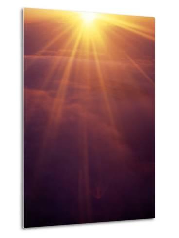 Majestic Sunset-Hal Gage-Metal Print