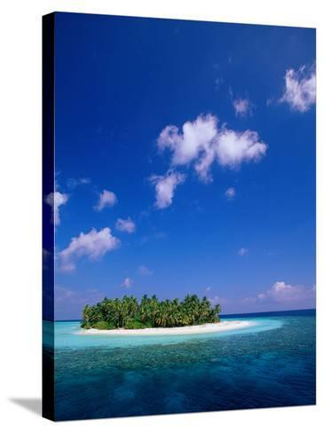Uninhabited Tropical Island, Ari Atoll, Maldives-Stuart Westmorland-Stretched Canvas Print
