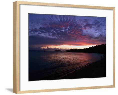 Bay at Sunset, Culebra, Puerto Rico-Dan Gair-Framed Art Print