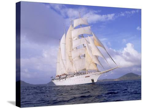 Star Clipper, 4-Masted Sailing Ship-Barry Winiker-Stretched Canvas Print
