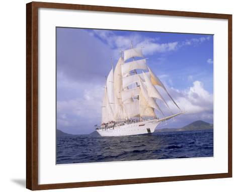 Star Clipper, 4-Masted Sailing Ship-Barry Winiker-Framed Art Print