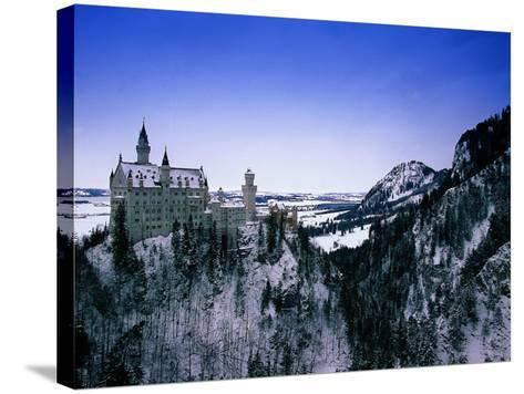 Neuschwanstein Castle, Bavaria, Germany-Walter Bibikow-Stretched Canvas Print
