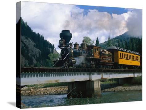 Durango-Silverton Line, CO-Sherwood Hoffman-Stretched Canvas Print