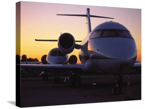 Business Jet Aircraft Parked at Airport-Gary Conner-Stretched Canvas Print