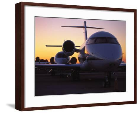 Business Jet Aircraft Parked at Airport-Gary Conner-Framed Art Print