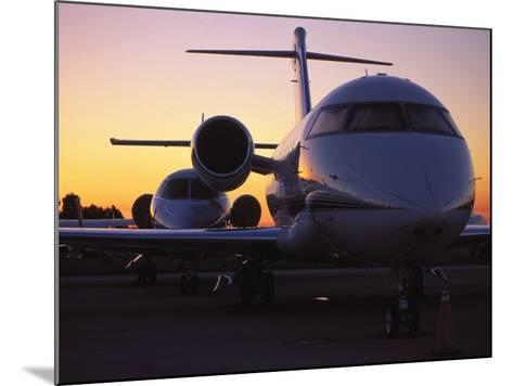 Business Jet Aircraft Parked at Airport-Gary Conner-Mounted Photographic Print