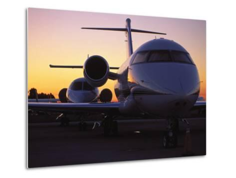 Business Jet Aircraft Parked at Airport-Gary Conner-Metal Print