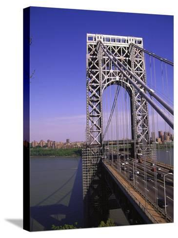 George Washington Bridge, NY-Barry Winiker-Stretched Canvas Print