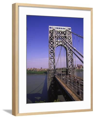 George Washington Bridge, NY-Barry Winiker-Framed Art Print