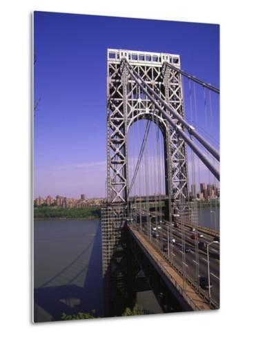George Washington Bridge, NY-Barry Winiker-Metal Print