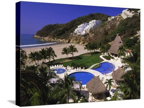 Punta Diamante Resort, Acapulco, Mexico-Walter Bibikow-Stretched Canvas Print