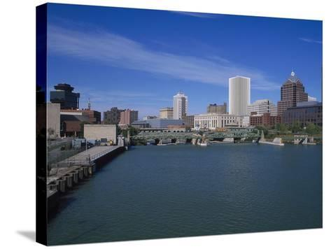 Skyline, Genessee River, Rochester, New York-Bill Bachmann-Stretched Canvas Print