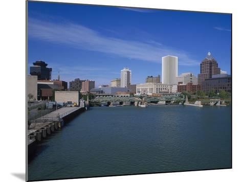 Skyline, Genessee River, Rochester, New York-Bill Bachmann-Mounted Photographic Print