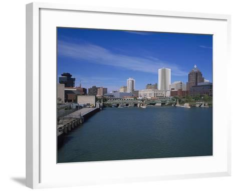 Skyline, Genessee River, Rochester, New York-Bill Bachmann-Framed Art Print