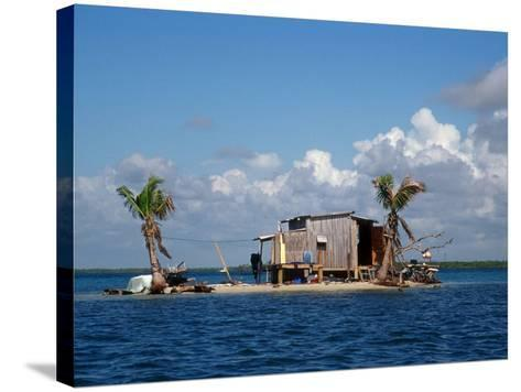 One Man Island off Placencia, Belize-Yvette Cardozo-Stretched Canvas Print