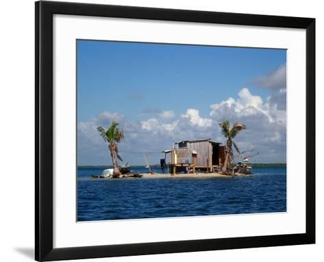 One Man Island off Placencia, Belize-Yvette Cardozo-Framed Art Print