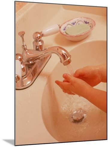Young Girl Washing Hands in Sink-Chris Lowe-Mounted Photographic Print