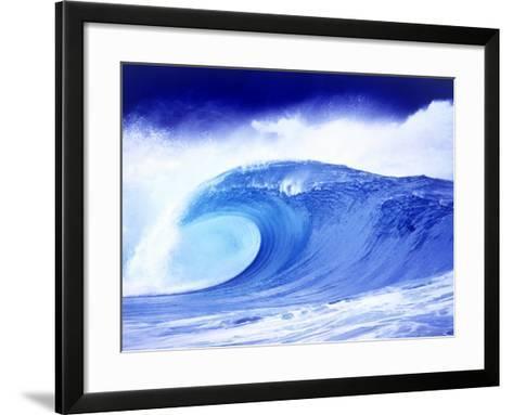 Waimea Bay Shore Break, Oahu, HI-Arthur W. Romerhaus III-Framed Art Print