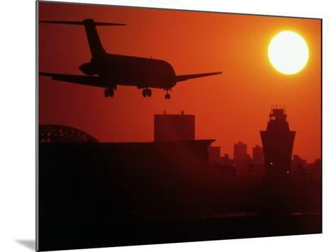 Airplane Descending at Dawn-Charles Blecker-Mounted Photographic Print