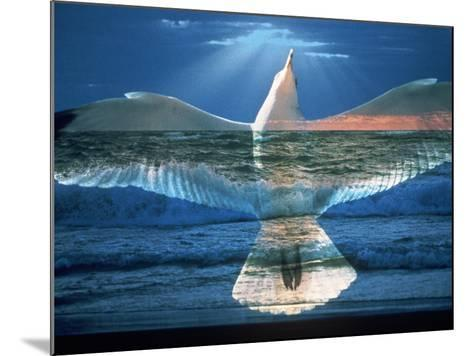 Bird Superimposed Over Ocean-Whitney & Irma Sevin-Mounted Photographic Print