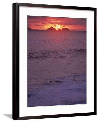 Beach at Sunset, Rio de Janeiro, Brazil-Jeff Dunn-Framed Art Print