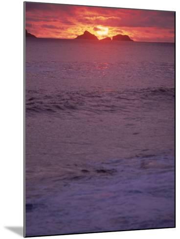 Beach at Sunset, Rio de Janeiro, Brazil-Jeff Dunn-Mounted Photographic Print