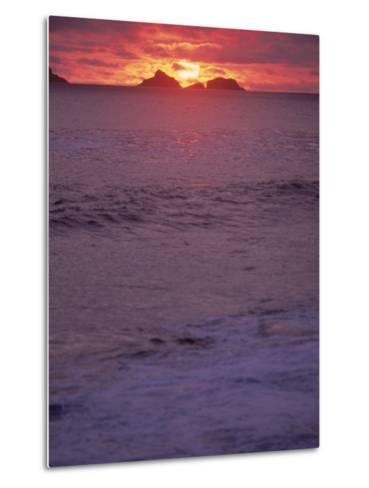 Beach at Sunset, Rio de Janeiro, Brazil-Jeff Dunn-Metal Print