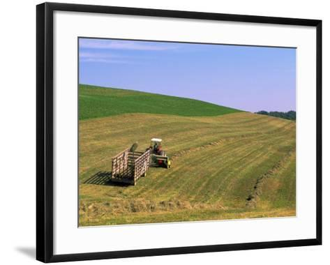 Tractor Pulling Container of Hay, Ohio-Jeff Friedman-Framed Art Print