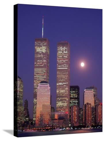 World Trade Center and Moon, NYC-Rudi Von Briel-Stretched Canvas Print