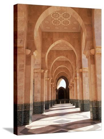 Hassan II Mosque, Casablanca, Morocco-Michele Burgess-Stretched Canvas Print