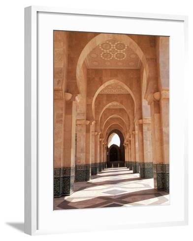 Hassan II Mosque, Casablanca, Morocco-Michele Burgess-Framed Art Print