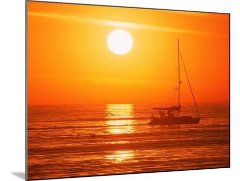 Boats in Harbor, Playa Del Rey, CA-Harvey Schwartz-Mounted Photographic Print