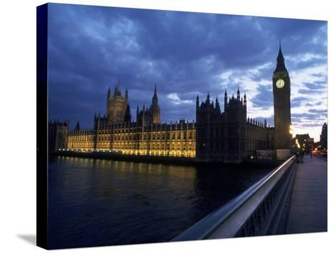 Big Ben, Parliament, River Thames, UK-Dan Gair-Stretched Canvas Print