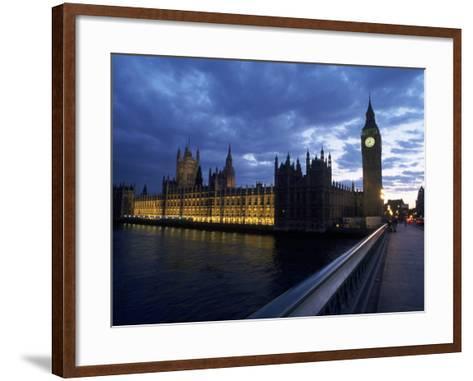 Big Ben, Parliament, River Thames, UK-Dan Gair-Framed Art Print
