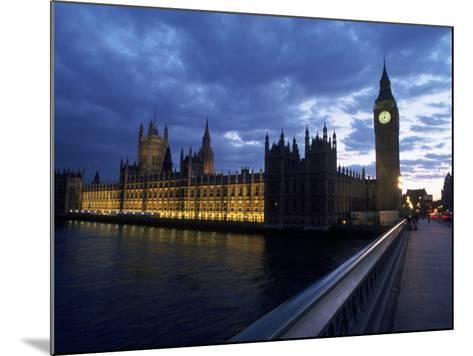 Big Ben, Parliament, River Thames, UK-Dan Gair-Mounted Photographic Print