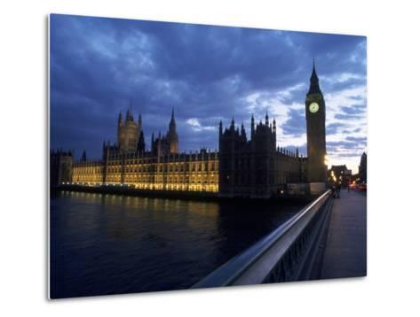 Big Ben, Parliament, River Thames, UK-Dan Gair-Metal Print