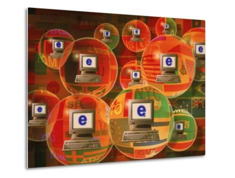 Global E-Business Networking-Carol & Mike Werner-Metal Print