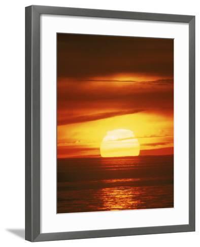 Sunset, Cape Cod, MA-John Greim-Framed Art Print