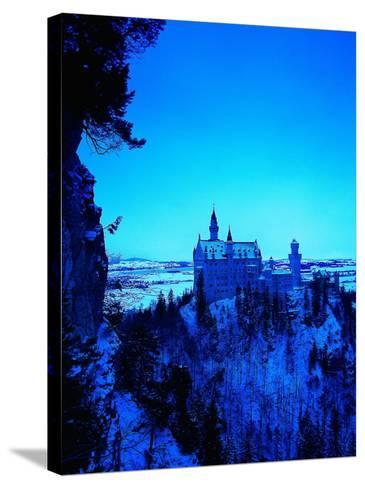 Neuschwanstein Castle, Bavaria, Germany-Walter Bibikow-Stretched Canvas Print
